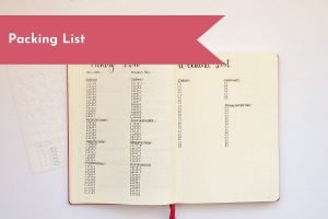 Don't forget anything on your next trip by creating a packing list! This easy checklist right in your Bullet Journal will help ensure you don't forget anything for your trip.