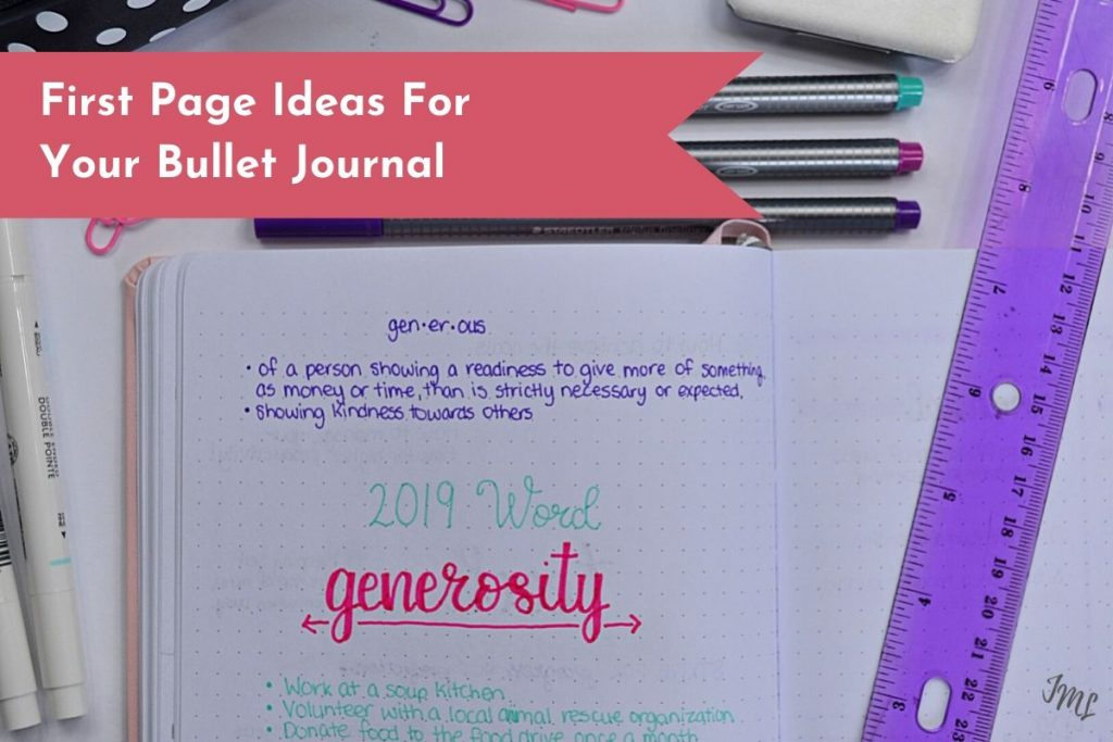 Overcome the first page fear of your Bullet Journal with these awesome and creative layouts!
