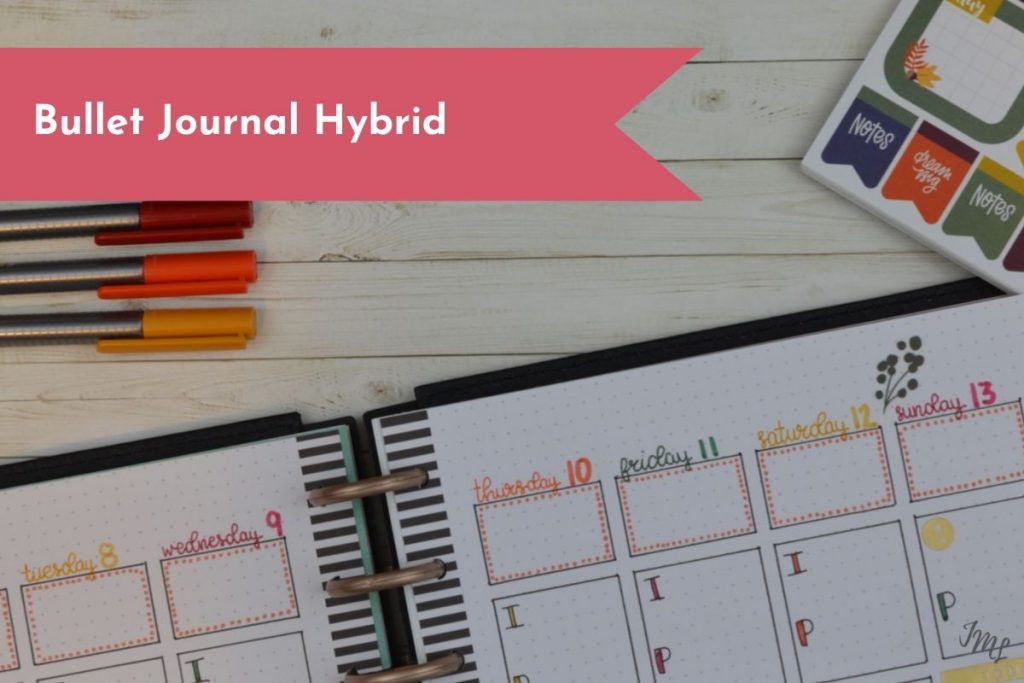 Does a Bullet Journal sound like too much work for you? Discover the Bullet Journal hybrid, the perfect cross of a planner and a Bullet Journal.
