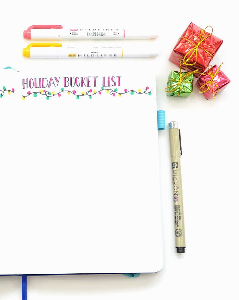 Do you love all the different holiday activities you can do at this time of year? Create a bucket list for yourself!