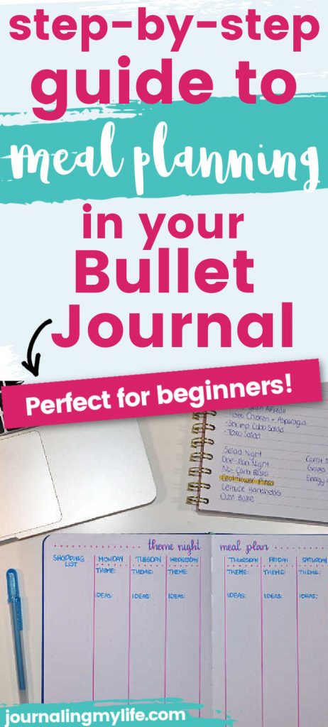 Learn the 5 step strategy for meal planning in your Bullet Journal!