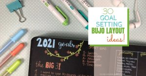 Get ideas & inspiration for your goal setting layouts in your Bullet Journal!