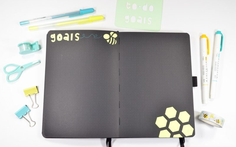 For my May goals layout in my Bullet Journal, I wanted to leave the space fairly open so that I could plan my goals anyway I think will be best at the time!
