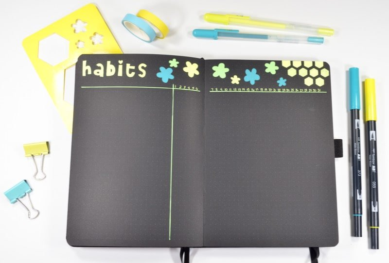 If you want to try a unique way of habit tracking, I highly recommend you try habit stacking! This layout is how I combine my habits and routines into one place.