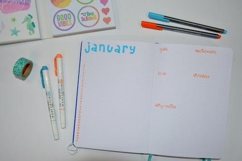 The monthly list layout can be a great option if you want to try a different way of planning out your month!