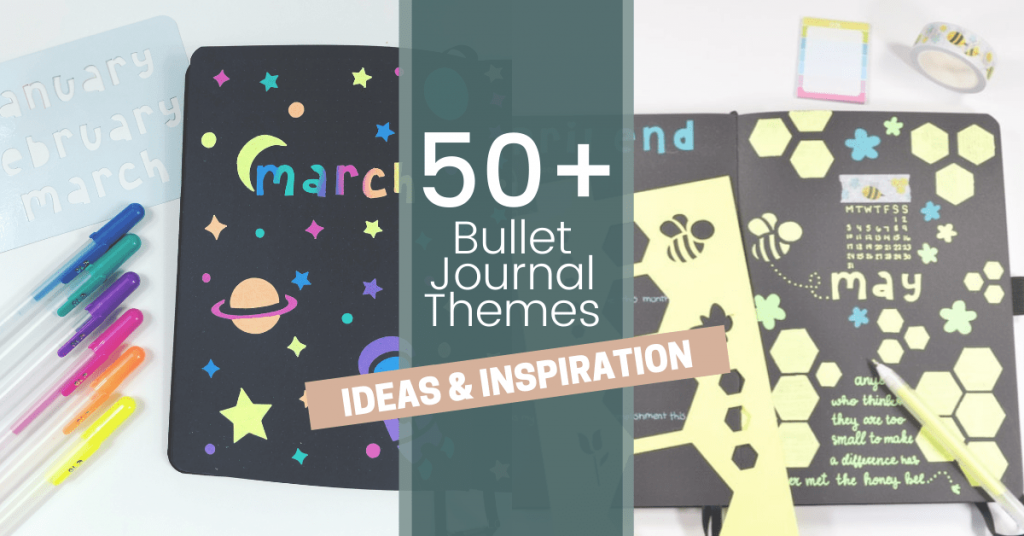 Find over 50 theme ideas that you can use inside your Bullet Journal! Plus, doodle ideas, inspirational photos and more!